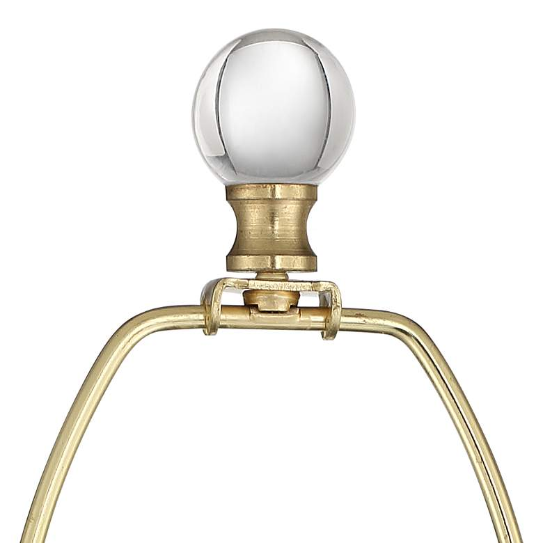Halston Brass Metal Buffet Table Lamp with Crystal Accents more views
