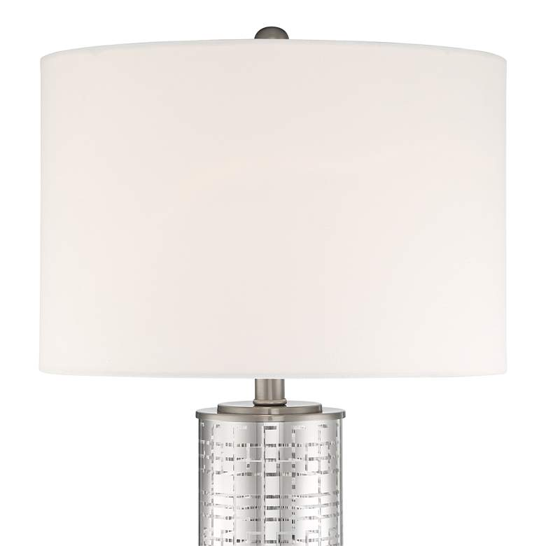 Novak Silver Glass Cylinder Table Lamp more views