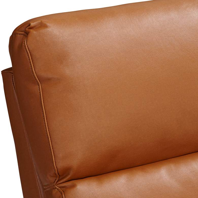 Evan Augusta Saddle Brown 3-Way Recliner Chair more views
