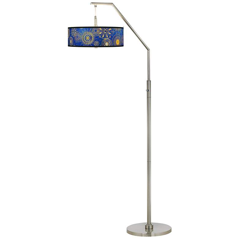 Celestial Giclee Shade Arc Floor Lamp more views