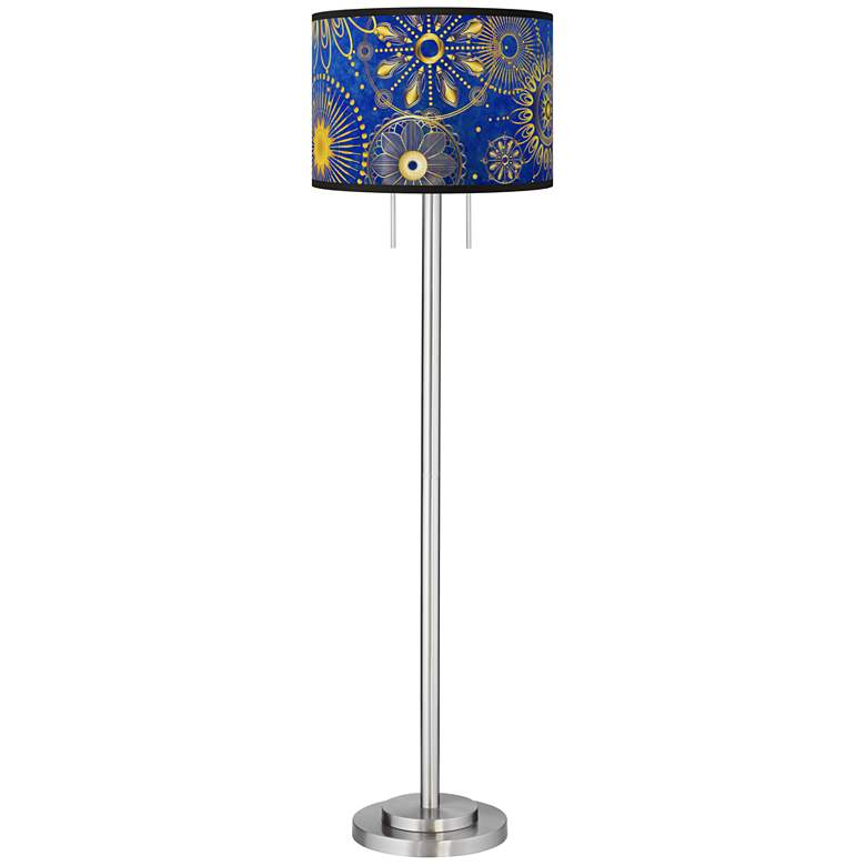 Celestial Giclee Brushed Nickel Garth Floor Lamp more views