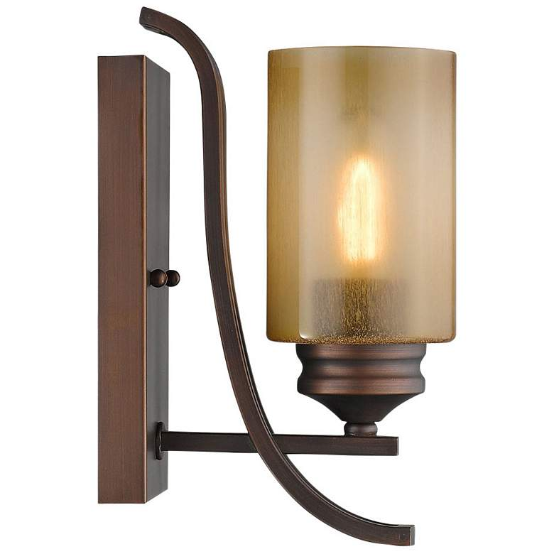 "Hidalgo 11"" High Sovereign Bronze Wall Sconce more views"