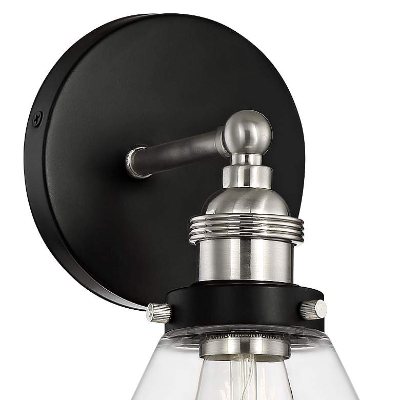 "Burke 10 3/4"" High Black and Brushed Nickel LED Wall Sconce more views"