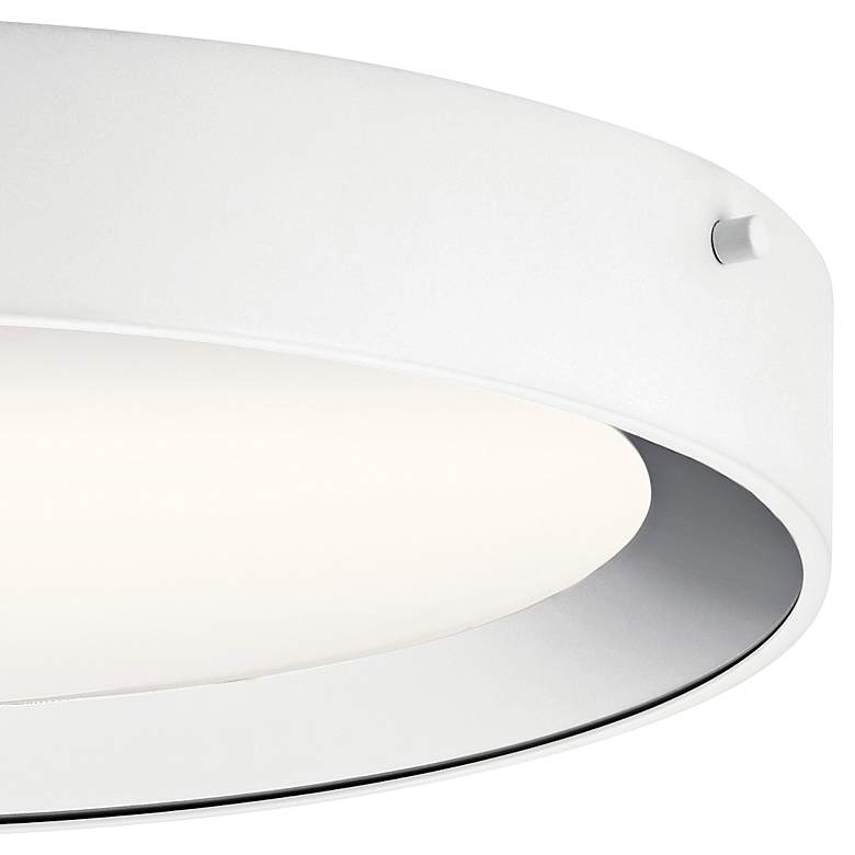 "Elan Incus 15 3/4"" Wide White and Chrome LED Ceiling Light more views"