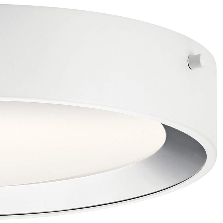 "Elan Incus 11 3/4"" Wide White and Chrome LED Ceiling Light more views"