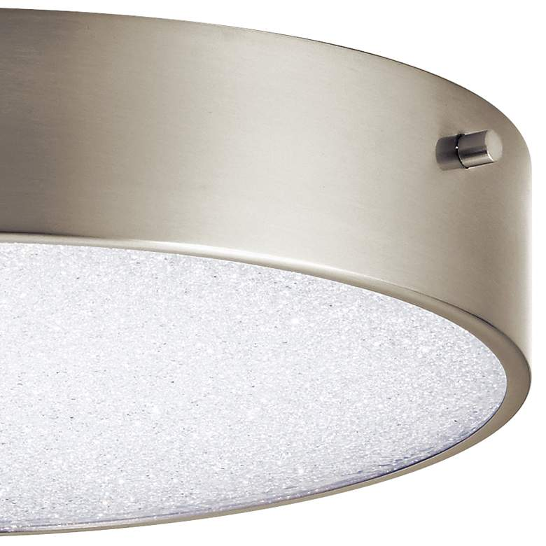 "Elan Crystal Moon 11 3/4""W Brushed Nickel LED Ceiling Light more views"