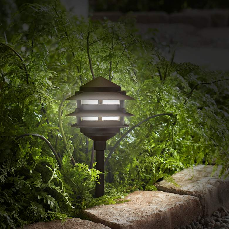 Pagoda Complete Outdoor 9-Piece LED Landscape Lighting Set more views