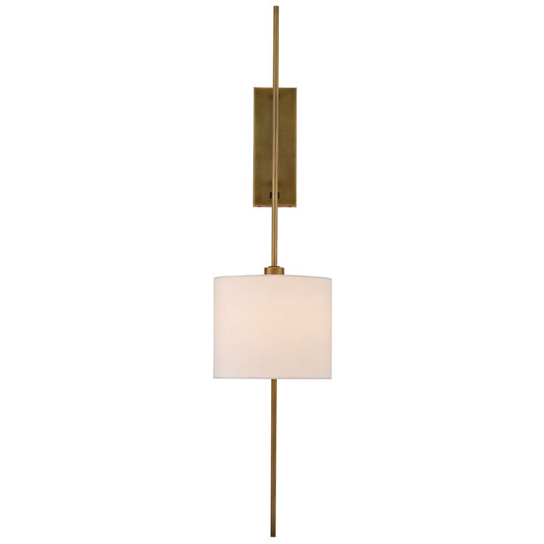 Currey and Company Savill Antique Brass Plug-In Wall Lamp more views