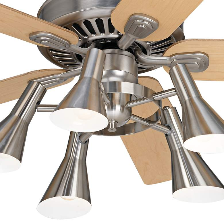 "52"" Windstar II Brushed Nickel and Maple LED Ceiling Fan more views"