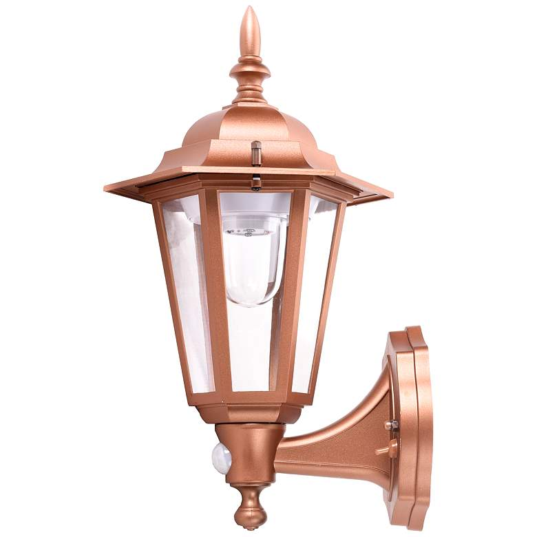 "Set of 2 15"" Battery Motion Sensor Copper Outdoor Wall Light more views"