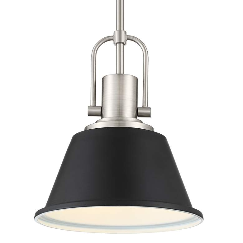 "Possini Euro Claira 9 1/2""W Black Metal Mini Pendant Light more views"