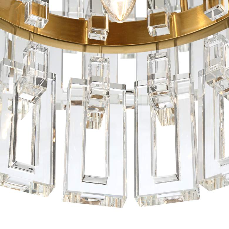"Luxem 18 3/4"" Wide Burnished Brass and Crystal Pendant Light more views"