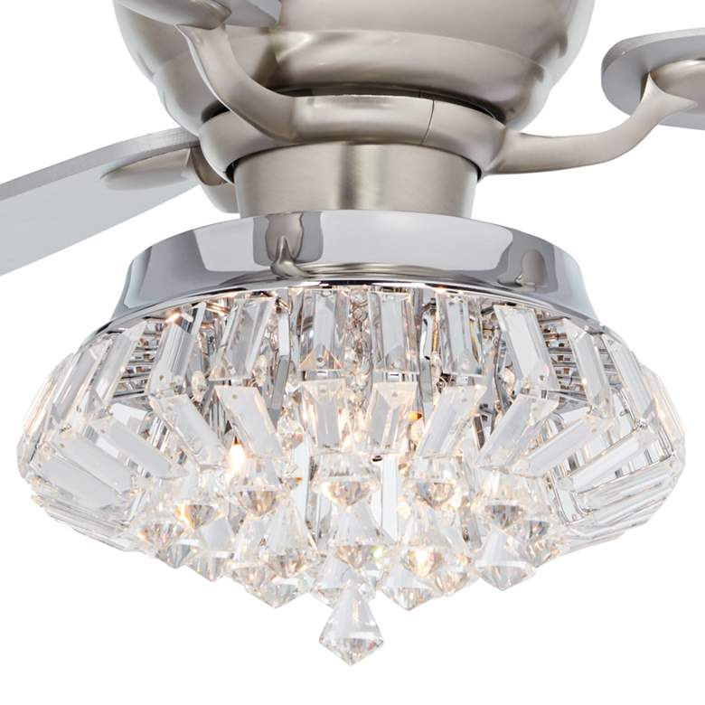 "60"" Spyder Deco Crystal LED Hugger Ceiling Fan more views"