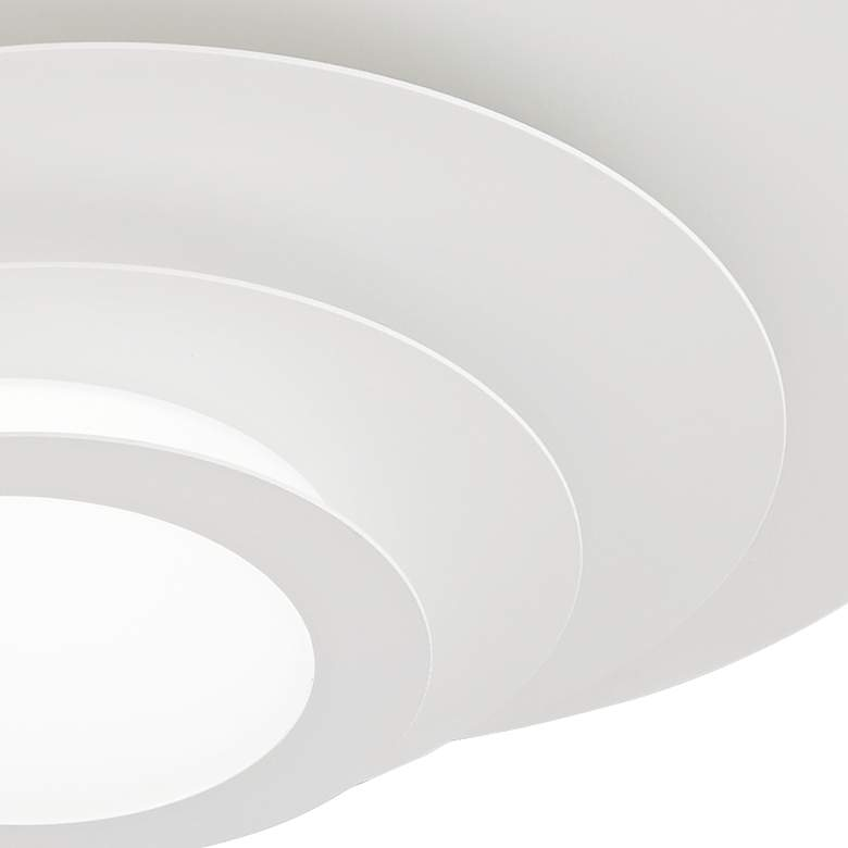 "Possini Euro Bedias 11""W White Multi-Tier LED Ceiling Light more views"