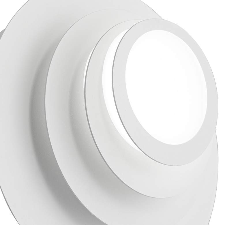 "Possini Euro Bedias 7 1/2""H White Multi-Tier LED Wall Sconce more views"