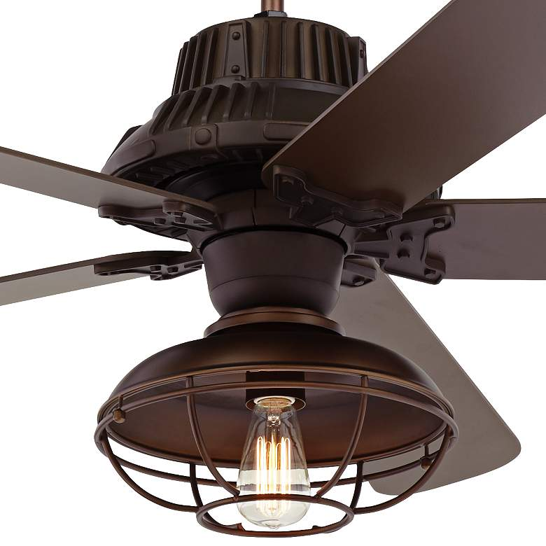 "60"" Industrial Forge LED Outdoor Ceiling Fan more views"