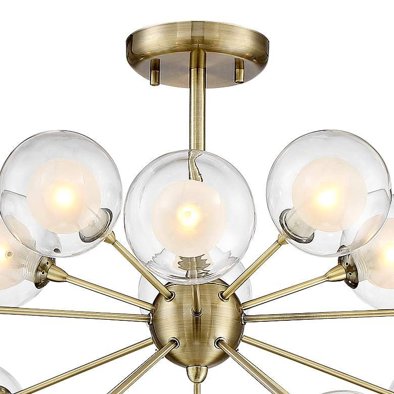Possini Euro Design Glass and Brass 15-Light Ceiling Light more views