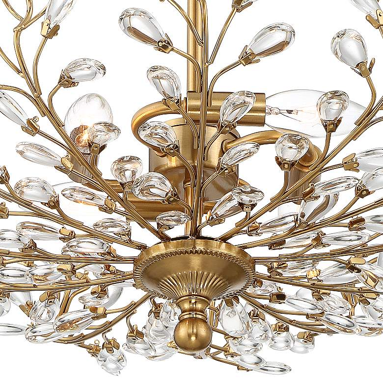"Brielle 18 1/2"" Wide Brass 4-Light Ceiling Light more views"