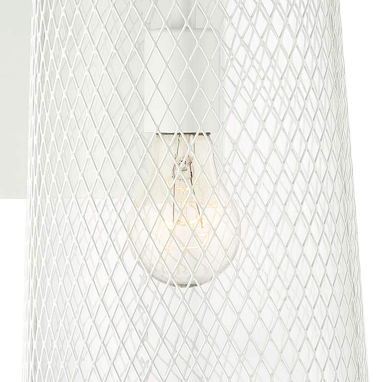 "Serrington 15 1/2"" High White Mesh Outdoor Wall Light more views"