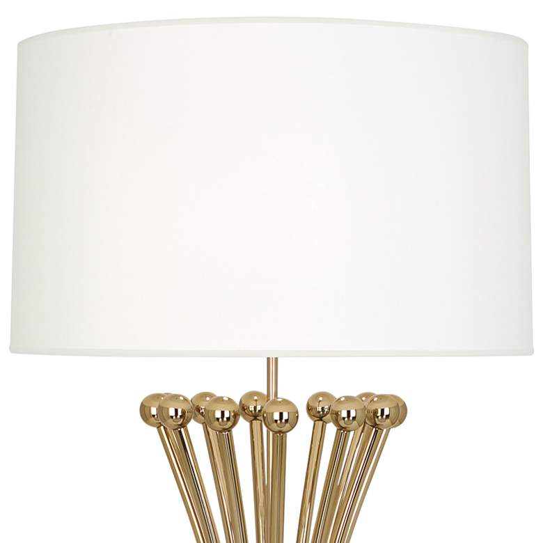 Jonathan Adler Biarritz Polished Brass Metal Floor Lamp more views