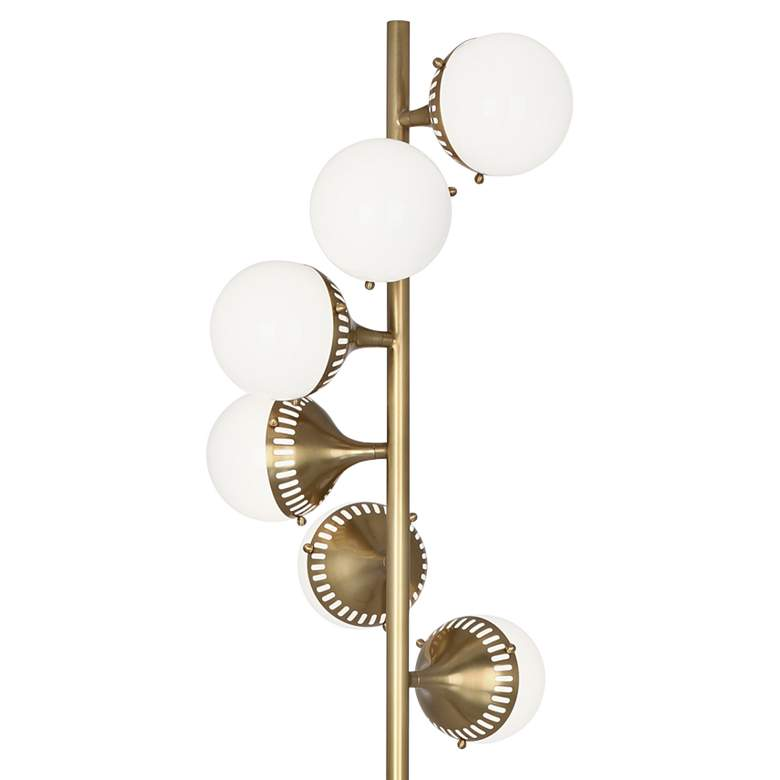 Jonathan Adler Rio Antique Brass 6-Light Floor Lamp more views