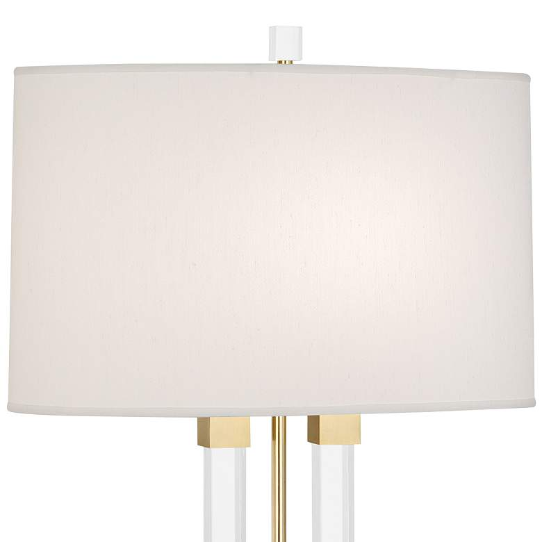 Robert Abbey Plexus Modern Brass 2-Column Table Lamp more views