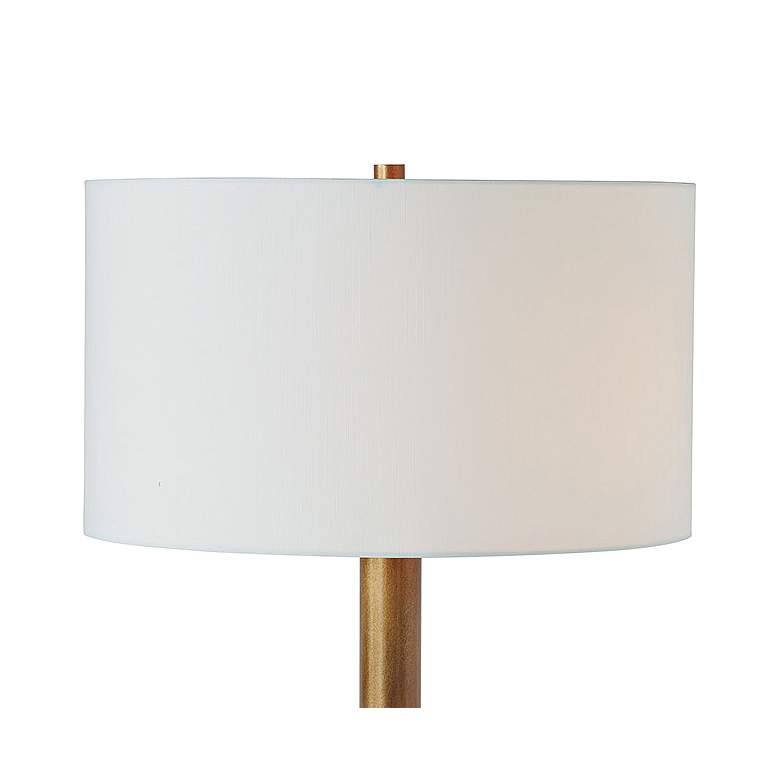 Port 68 Powell White Aged Brass Metal Neck Table Lamp more views
