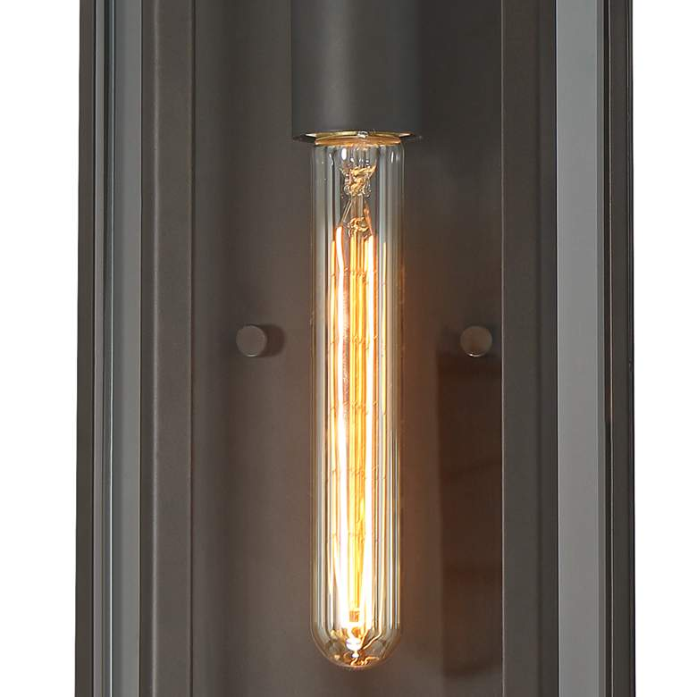 "Trystan 13"" High Bronze and Glass Outdoor Wall Light more views"