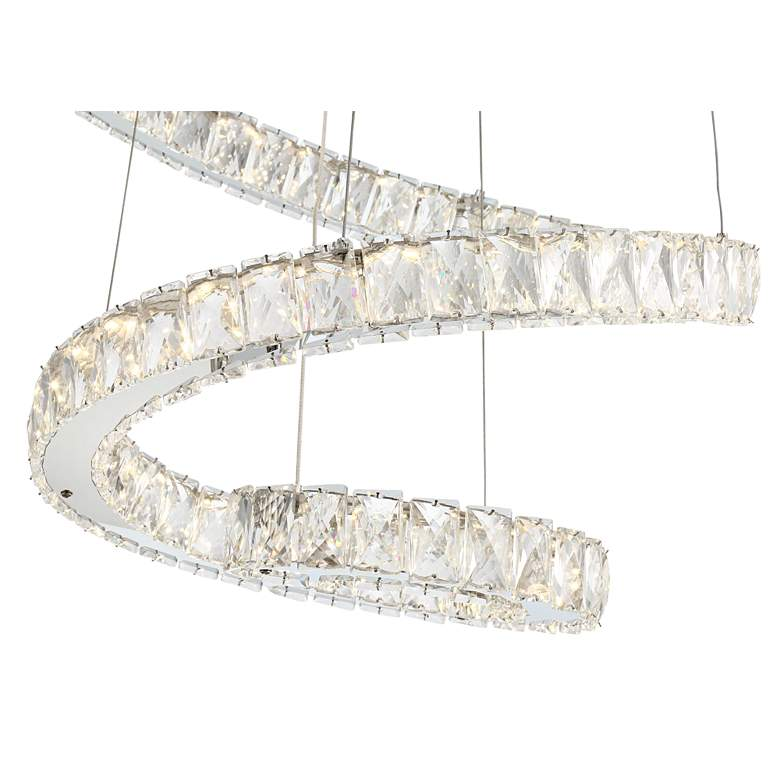"Ellyria 30 3/4"" Wide Twirling Crystal LED Pendant Light more views"