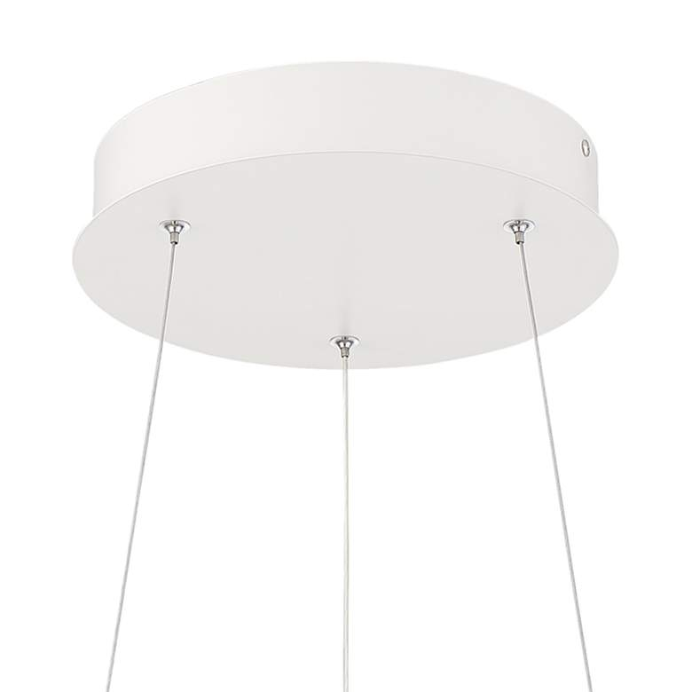 "Possini Euro Venice 24 3/4"" Wide White 2-Ring LED Pendant more views"