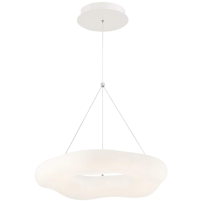 "Possini Euro Leto 21 3/4"" Wide White LED Pendant Light more views"