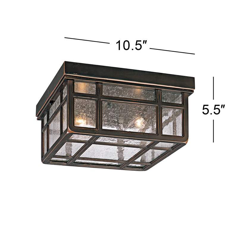 "J du J Sierra Craftsman 10 1/2"" Wide Ceiling Light more views"