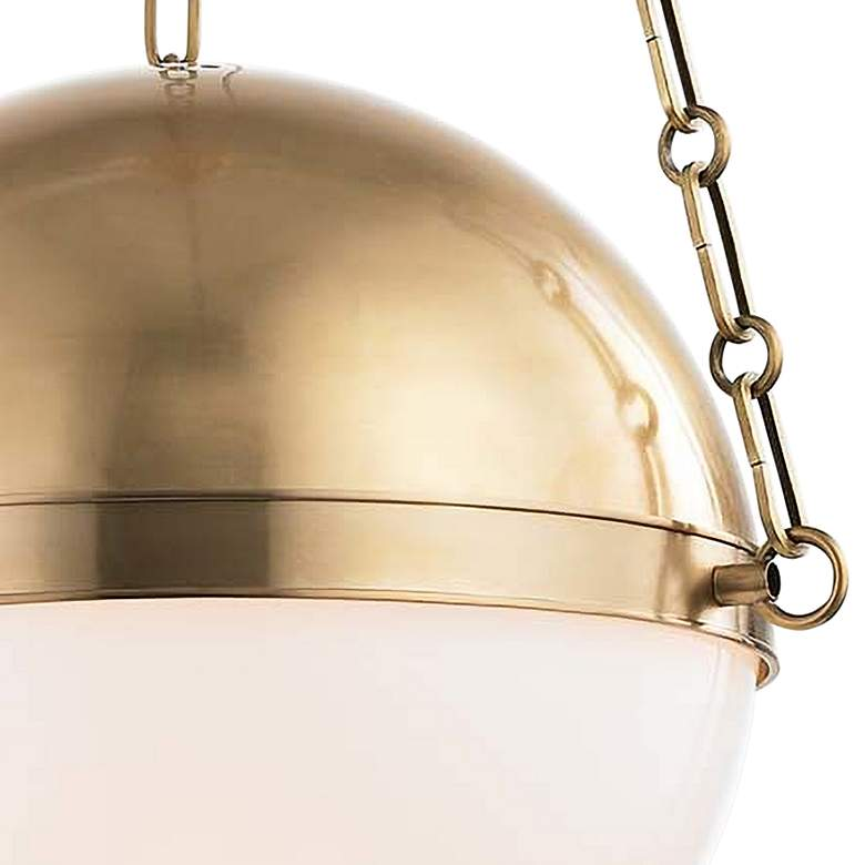 "Sphere No.2 16 1/2"" Wide Aged Brass Pendant Light more views"