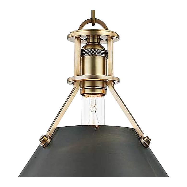 "Metal No.2 16"" Wide Antique Distressed Bronze Pendant Light more views"