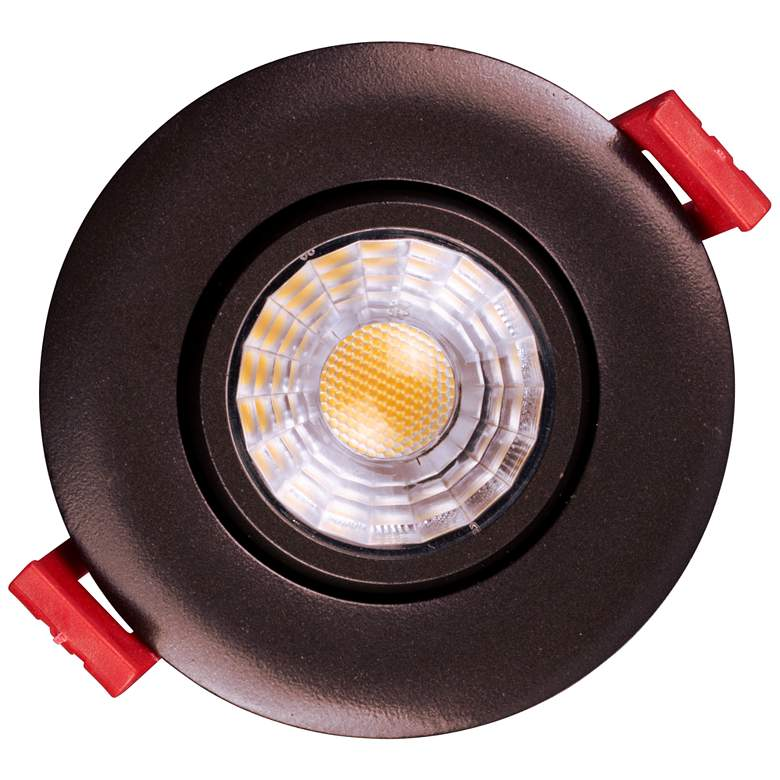 "Nicor 3"" Oil-Rubbed Bronze LED Gimbal Recessed Downlight more views"