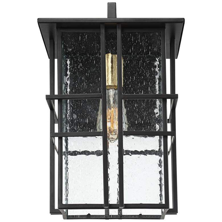 "Possini Euro Arley 12"" High Black Outdoor Wall Light more views"