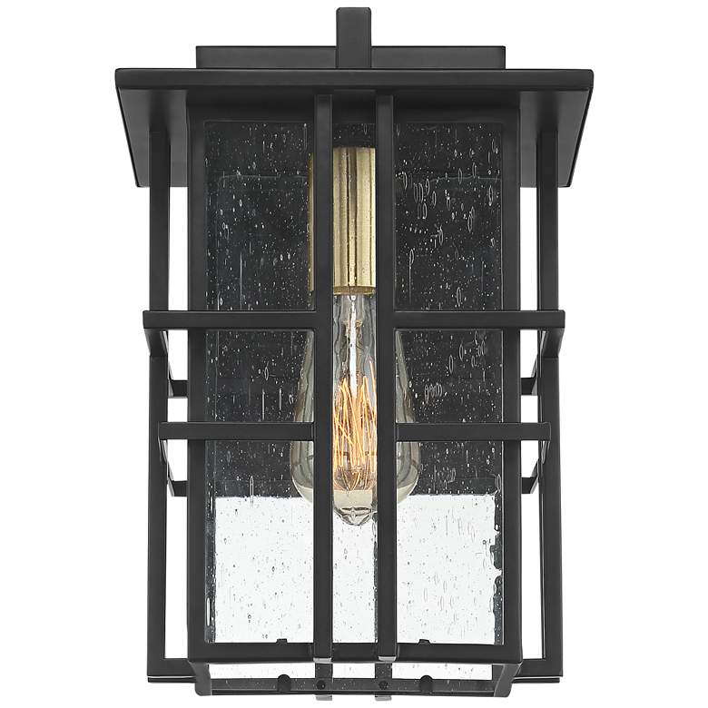 "Possini Euro Arley 16"" High Black Outdoor Wall Light more views"