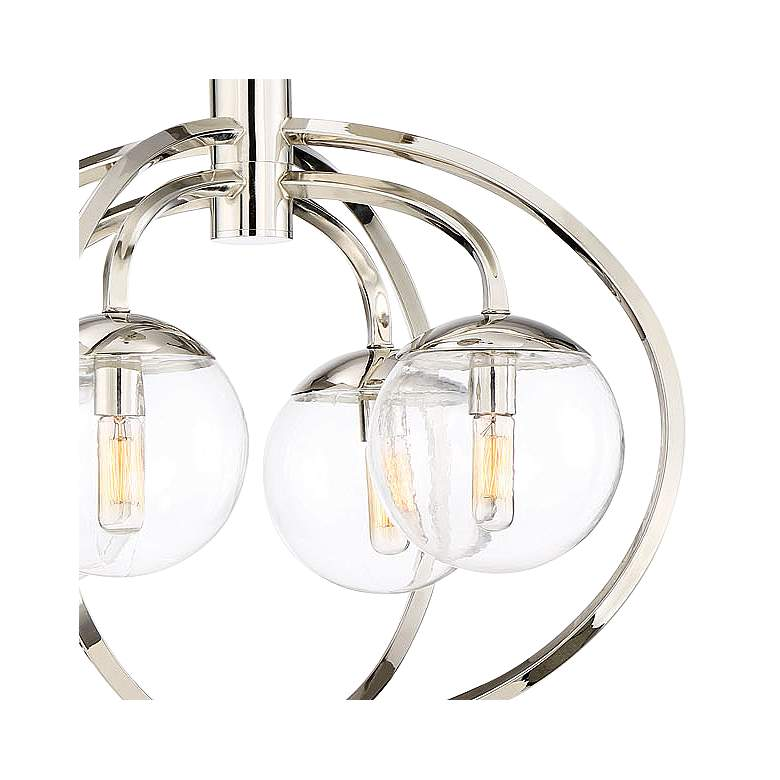 "Craftmade Piltz 22"" Wide Polished Nickel 4-Light Chandelier more views"