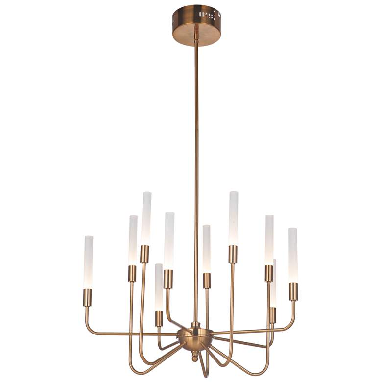 "Craftmade Valdi 26 1/2""W Satin Brass 10-Light LED Chandelier more views"