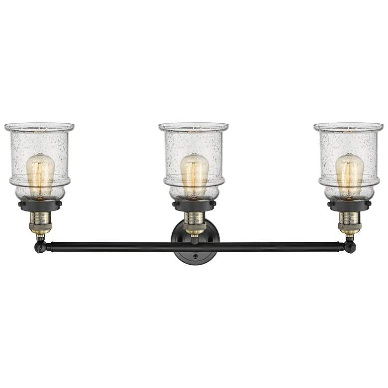 "Canton 30""W Black and Brass 3-Light Adjustable Bath Light more views"