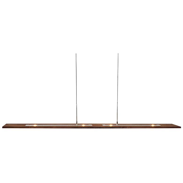 "Cerno Vix 82 82"" Wide Walnut Wood Island Pendant more views"
