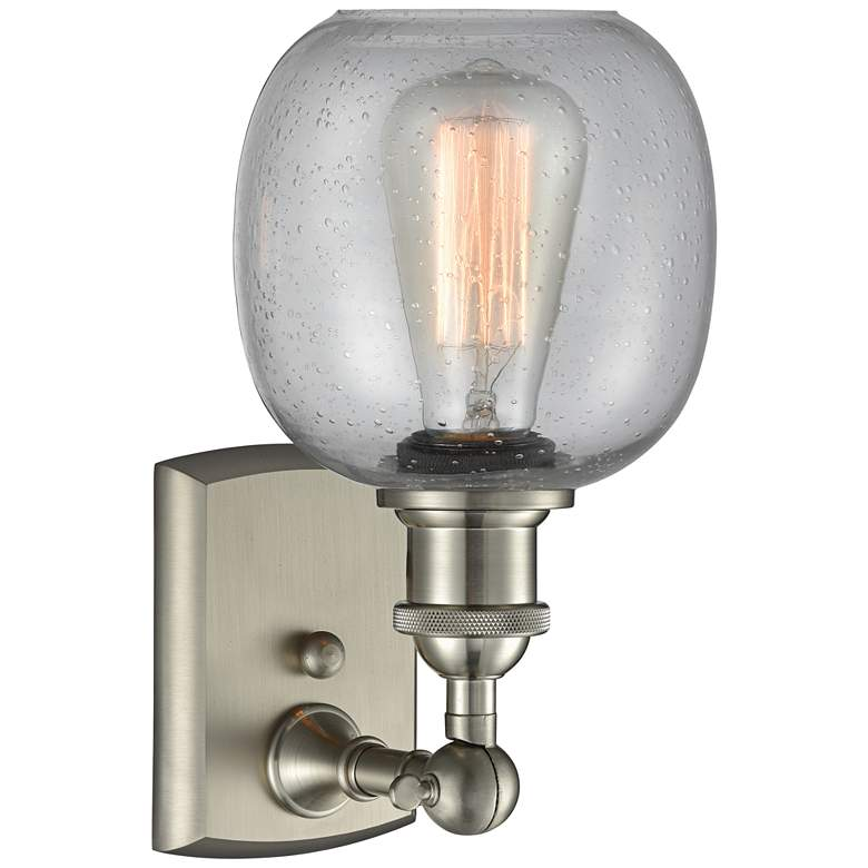 "Belfast 11"" High Brushed Satin Nickel Adjustable Wall Sconce more views"