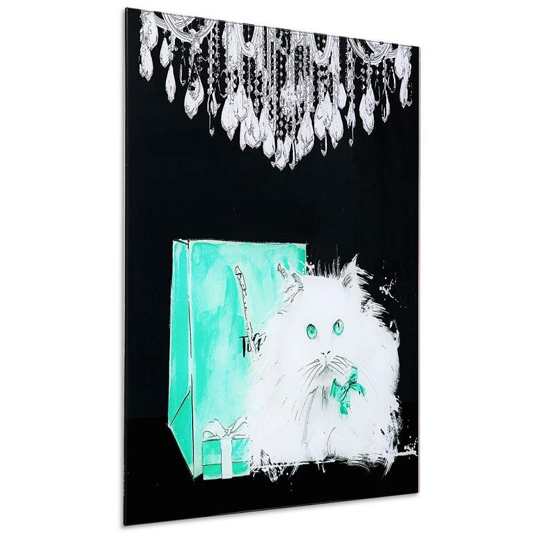 "Snowball 20"" Square Frameless Tempered Glass Wall Art more views"