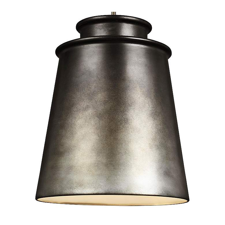 "Feiss Fiona 15"" Wide Oil Can Gray Pendant Light more views"