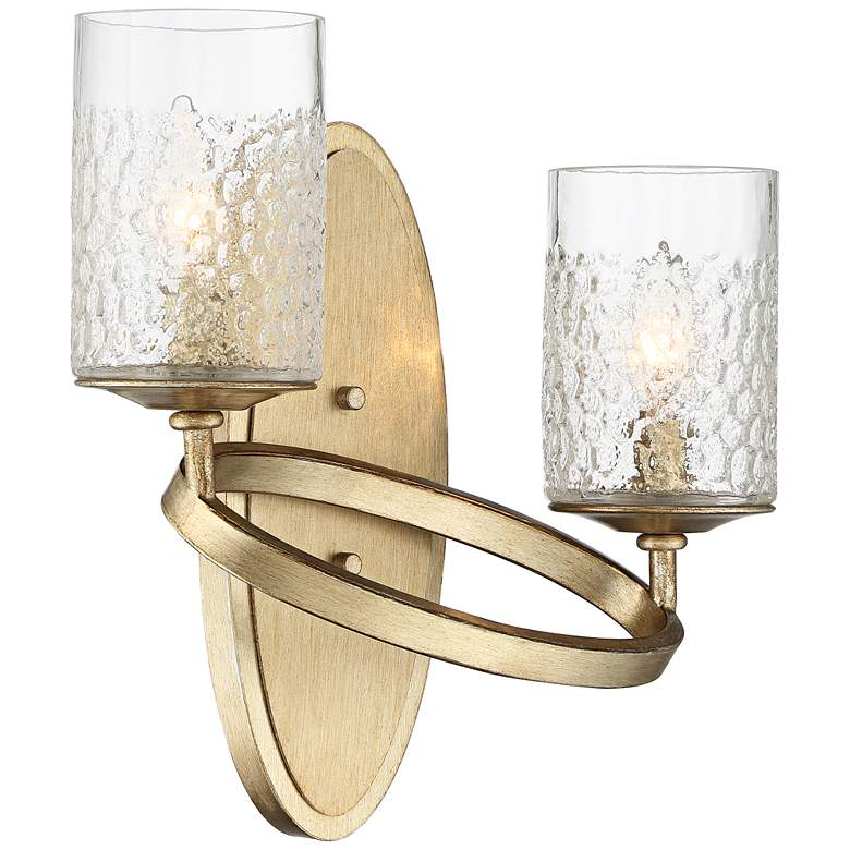 "Possini Euro Amryn 13 1/2""H Gold Champagne Wall Sconce more views"