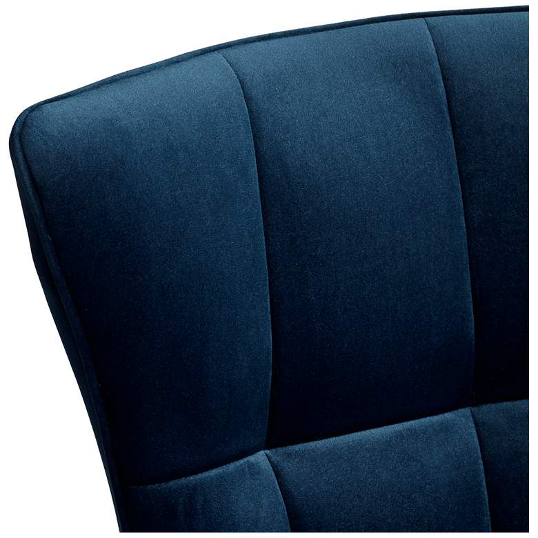 Martino Blue Fabric Modern Dining Chair by 55 Downing Street more views