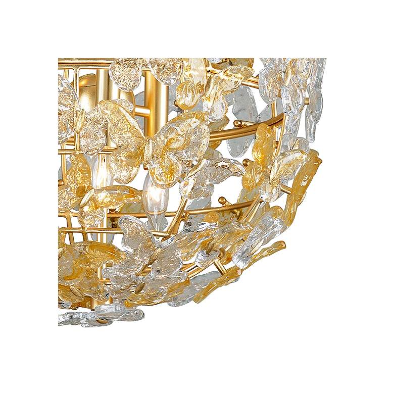 "Corbett Milan 20"" Wide Gold Leaf Butterflies Pendant Light more views"