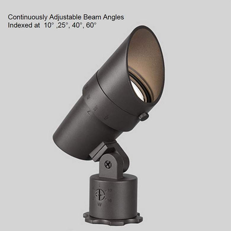 "WAC Landscape 6""H Bronzed Brass 2700K LED Accent Spot Light more views"