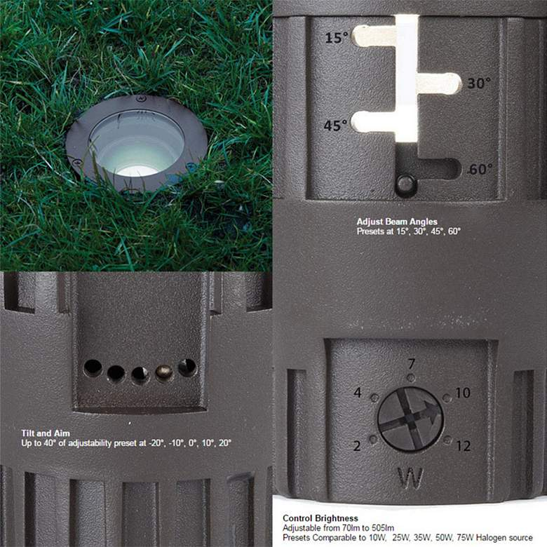 WAC Landscape Bronzed Brass 120V LED In-Ground Well Light more views