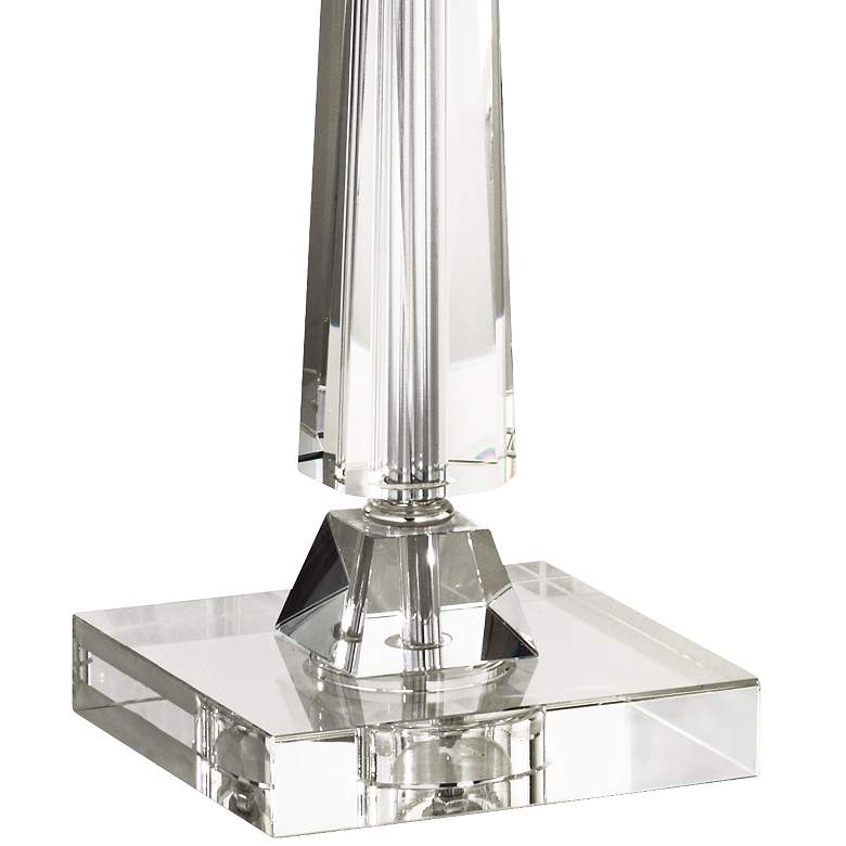 Aline Modern Crystal Table Lamp with Taupe Bell Shade more views